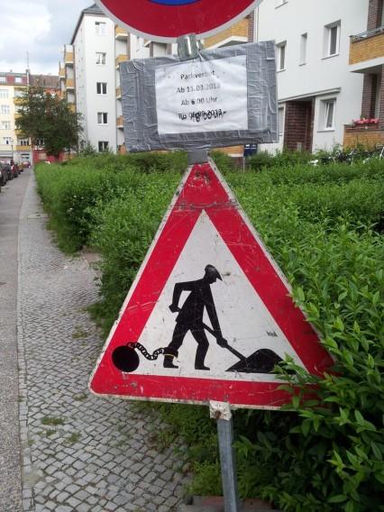 Street Art Verkehrszeichen Berlin