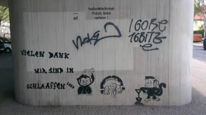 Street Art Berlin Affen